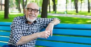 Relaxed senior man outdoors
